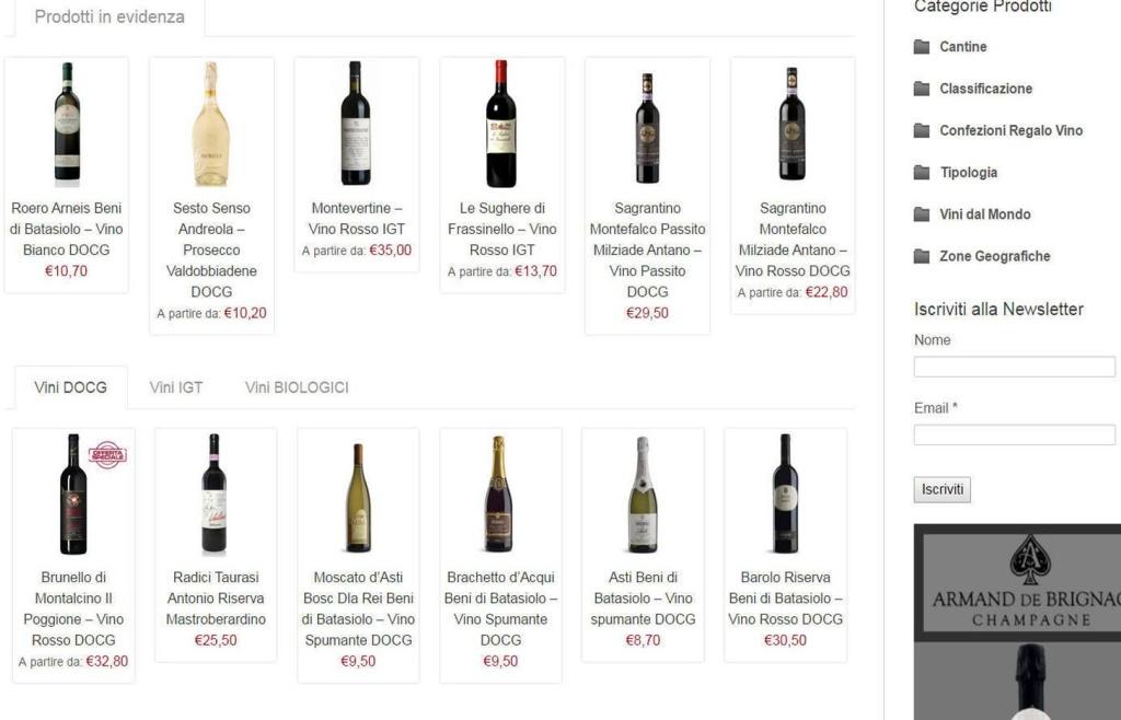 Futuro diVino - E-commerce E shop Cantina Vini vendita prodotti agenzia