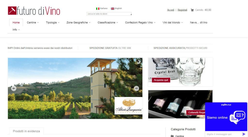 Futuro diVino - Realizzazione E-commerce E shop Cantina Vini LQ