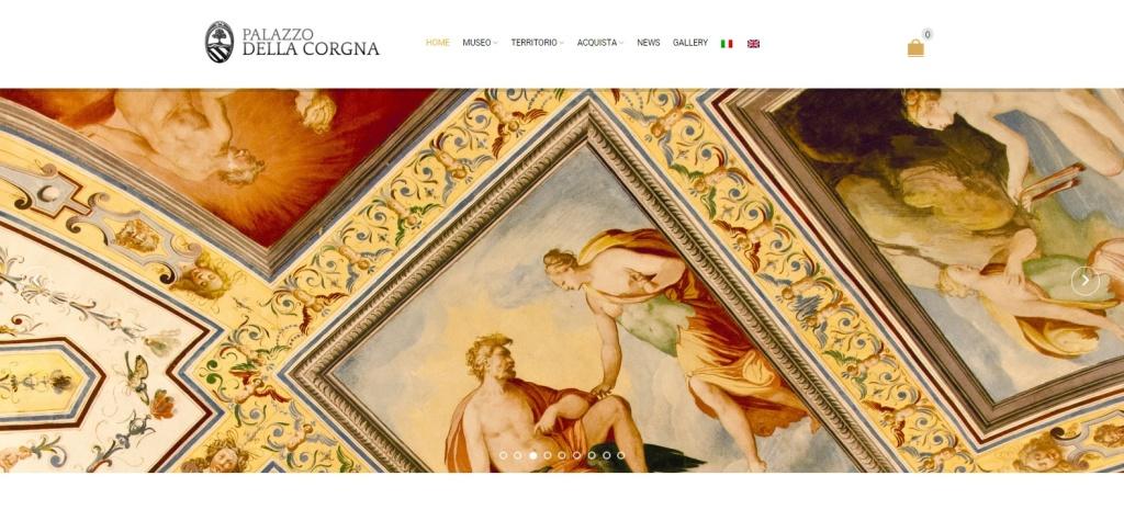 Palazzo della Corgna realizzazione sito turismo