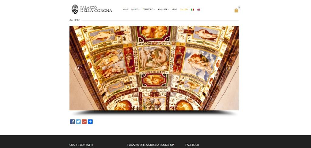 Palazzo della Corgna realizzazione sito web