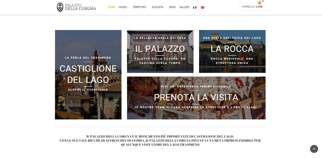 Palazzo della Corgna realizzazione sito web turistico
