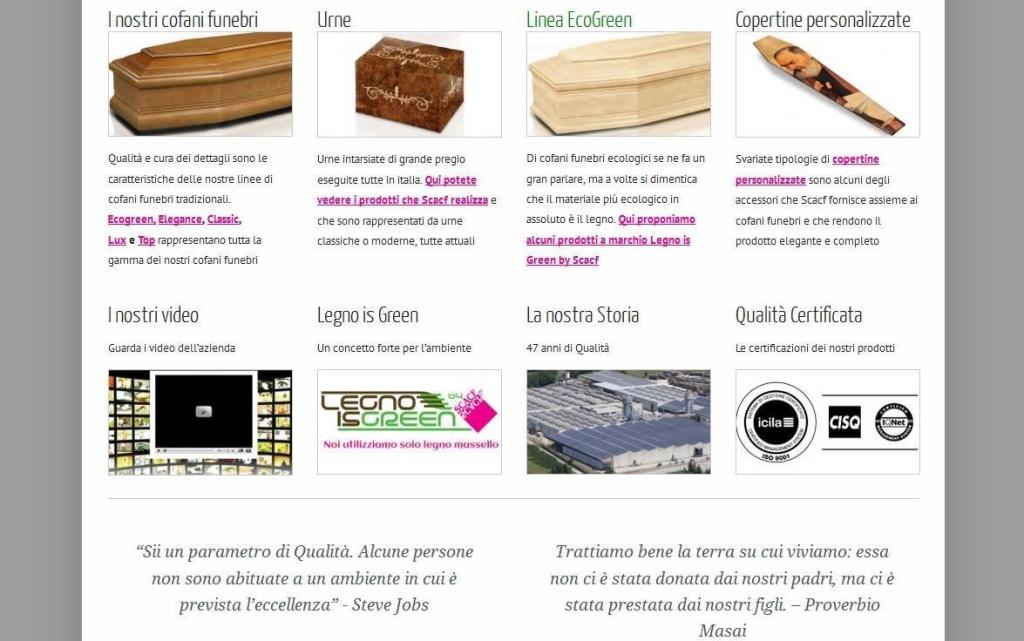 SCACF homepage sito web azienda di cofani funebri LQ