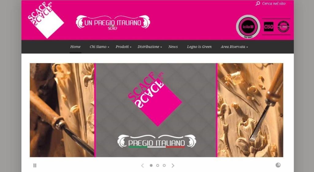 SCACF realizzazione sito web azienda di cofani funebri LQ