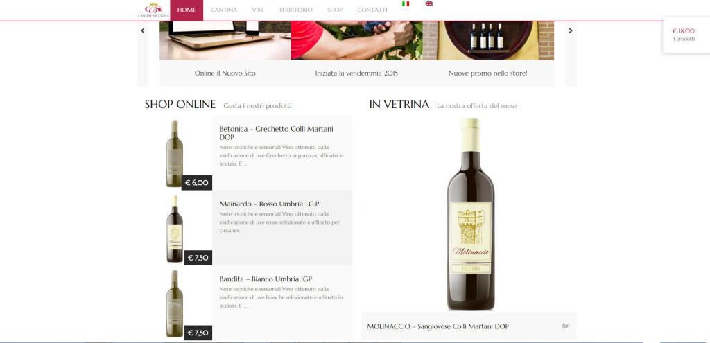 Cantine Bettona realizzazione e-shop online vendita diretta vini vino LQ