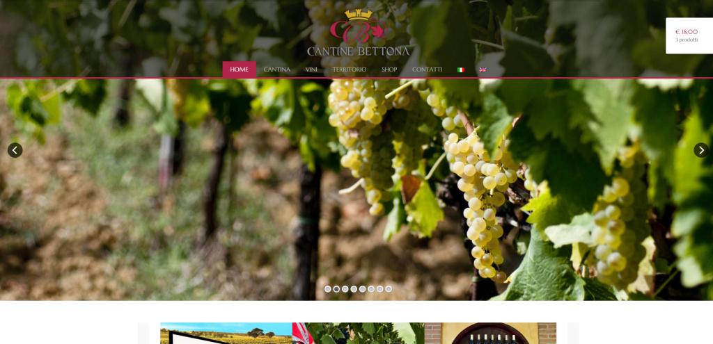 Cantine Bettona realizzazione sito web con negozio online vendita diretta LQ