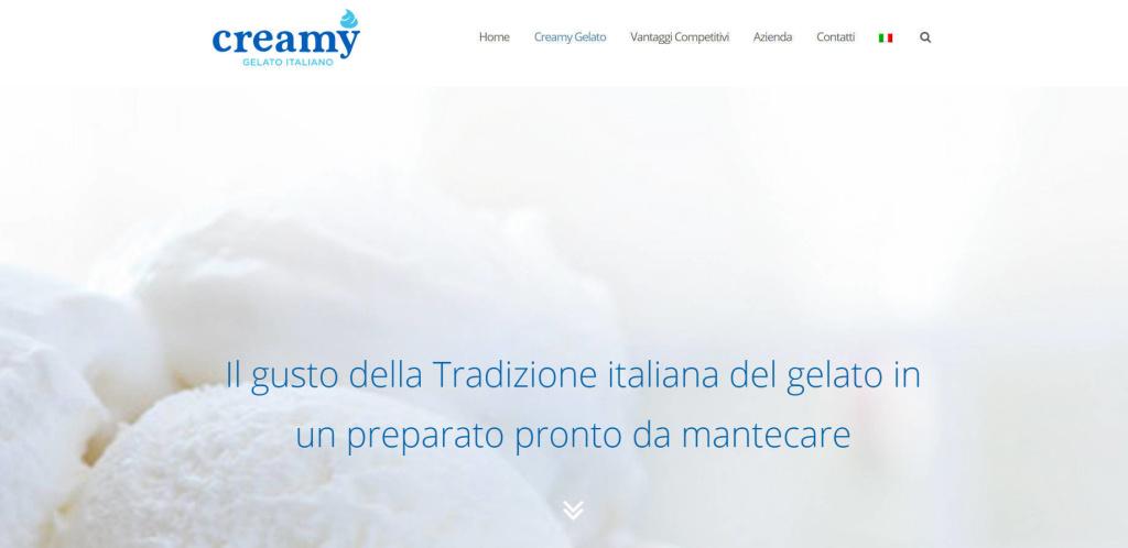 Creamy Gelato Italiano - Realizzazione sito web multi lingua Inglese LQ
