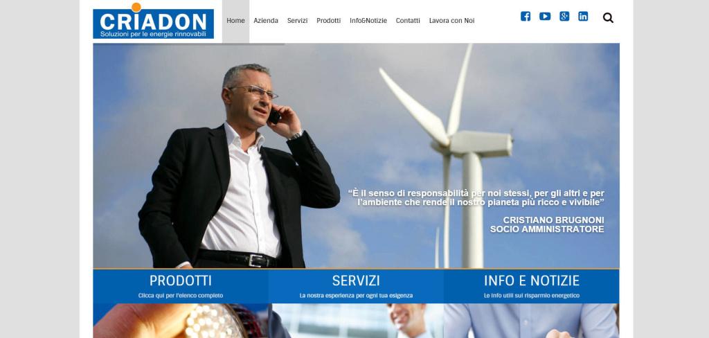 Criadon creazione sito web responsive portale energetico LQ