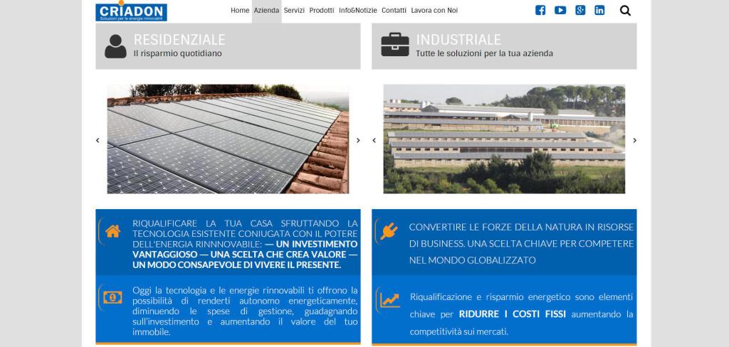 Criadon realizzazione comparazione nel sito web marketing LQ