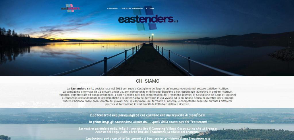 Eastenders Sito web one page creazione contenuti LQ