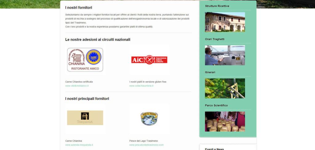 Isola Polvese realizzazione sito web responsive partner struttura LQ