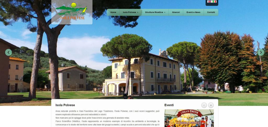 Isola Polvese realizzazione sito web responsive retina hotel alberghi eventi LQ