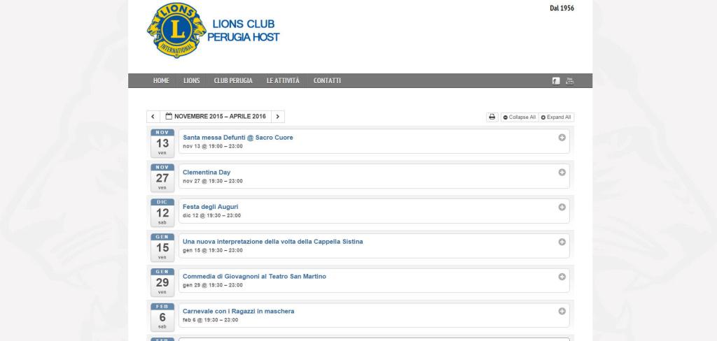 Lions Club Perugia gestione eventi associazione pannello amministrazione LQ