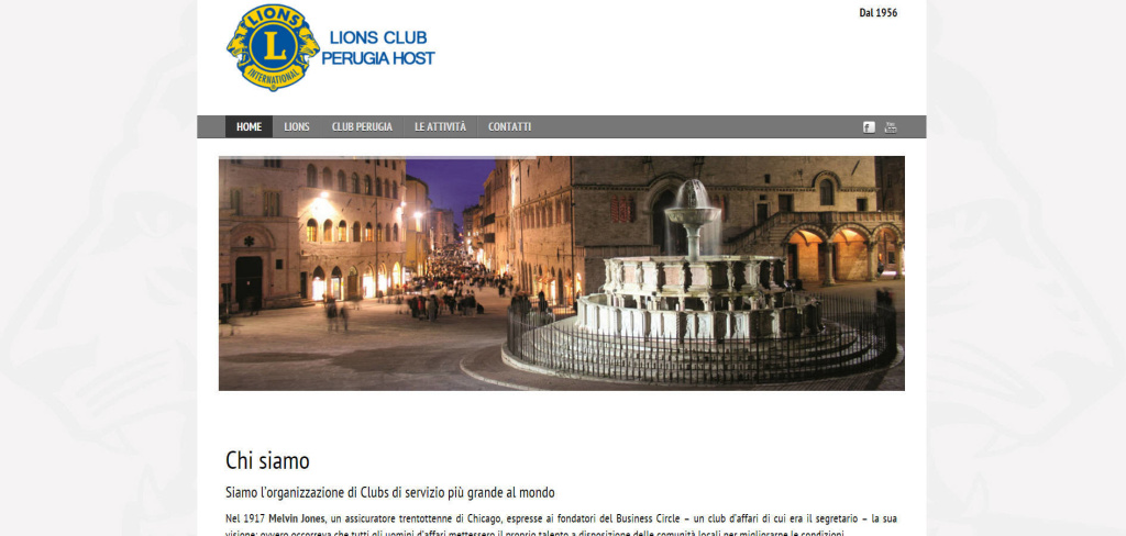 Lions Club Perugia realizzazione sito web grafiche slider immagini eventi LQ