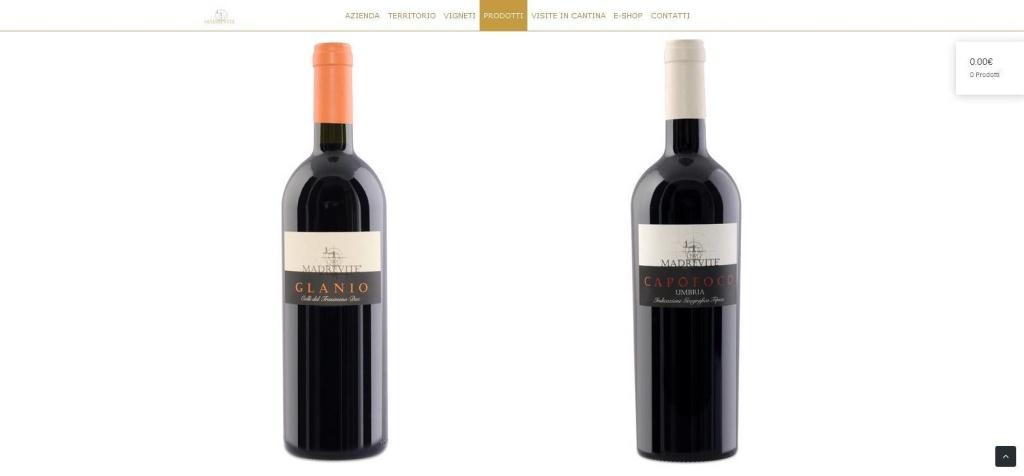 Madrevite realizzazione sito web cantina gamma vini LQ