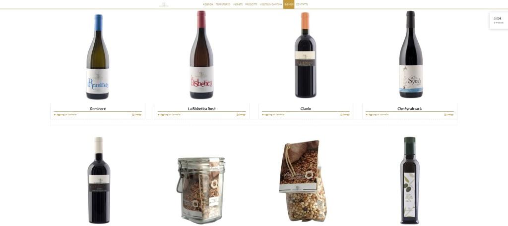 Madrevite sito web cantina e-commerce vini