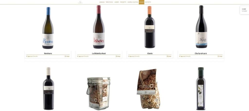 Madrevite sito web cantina e-commerce vini LQ