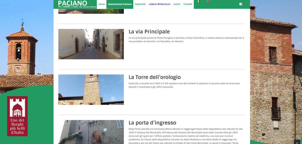 Paciano creazione portale turistico per comuni informazioni LQ