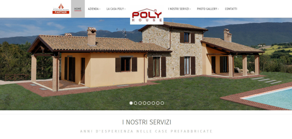 Poly House home page creazione sito web slider render 3d LQ
