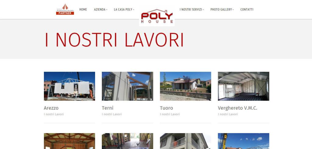 Poly House realizzazione sito web Portfolio lavori finiti cantieri edilizia LQ