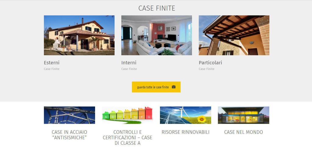 Poly House realizzazione sito web per impresa edile LQ