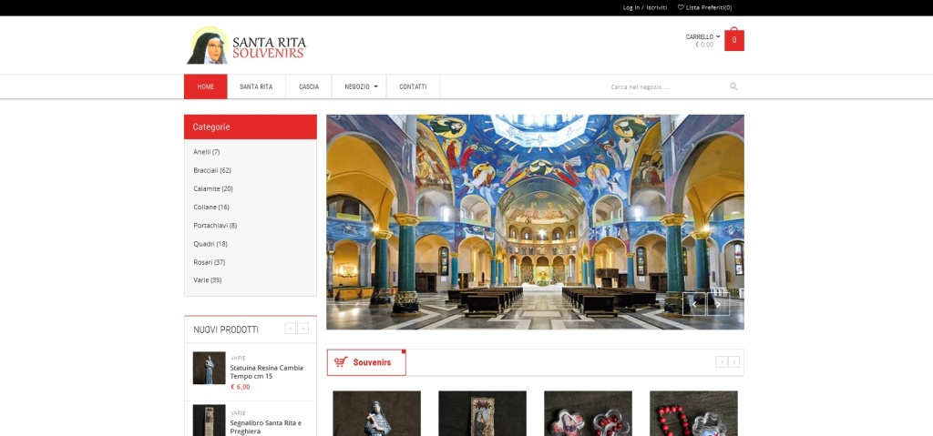 Santa Rita Souvernir Realizzazione sito web