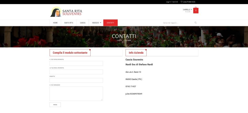 Santa Rita Souvernirs modulo contatti
