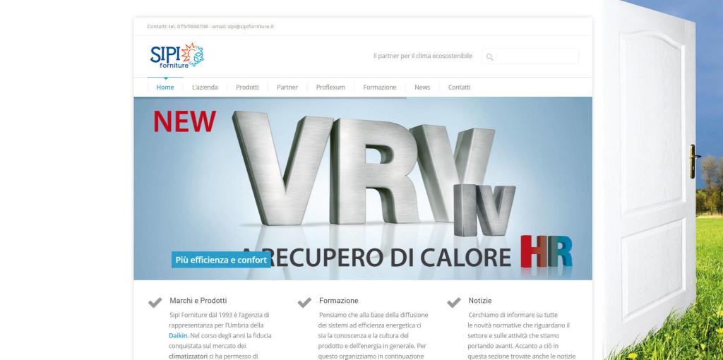 Sipi Forniture - Realizzazione Sito Web LQ