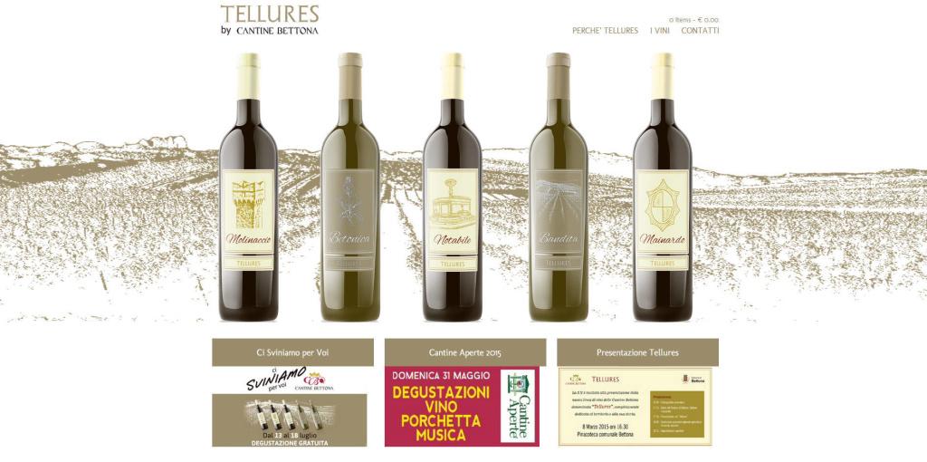 Tellures - Realizzazione Sito Web Vino Cantina LQ
