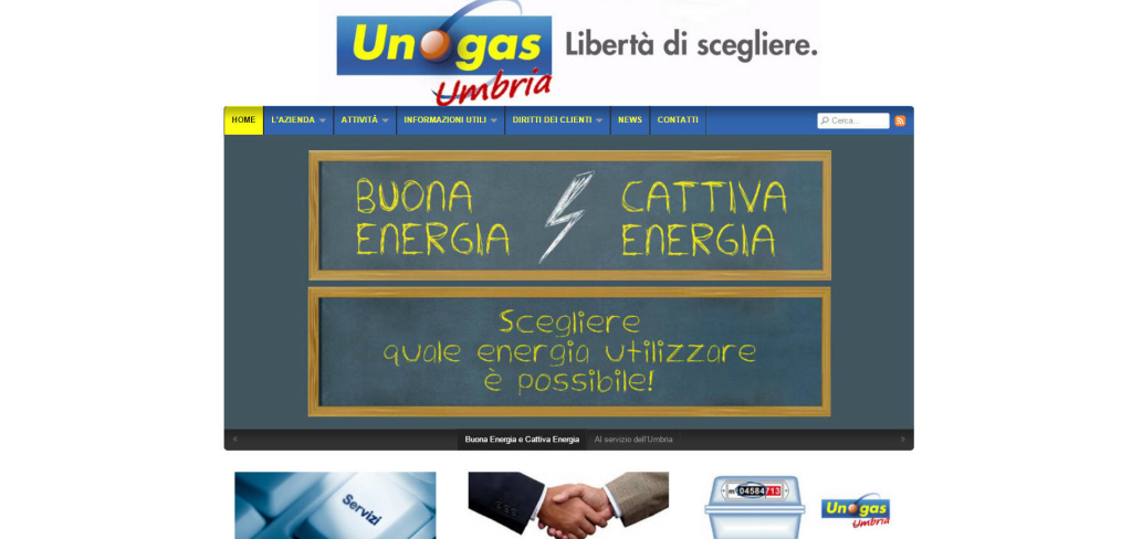 UnoGas Umbria realizzazione portale informativo per clienti web energia LQ
