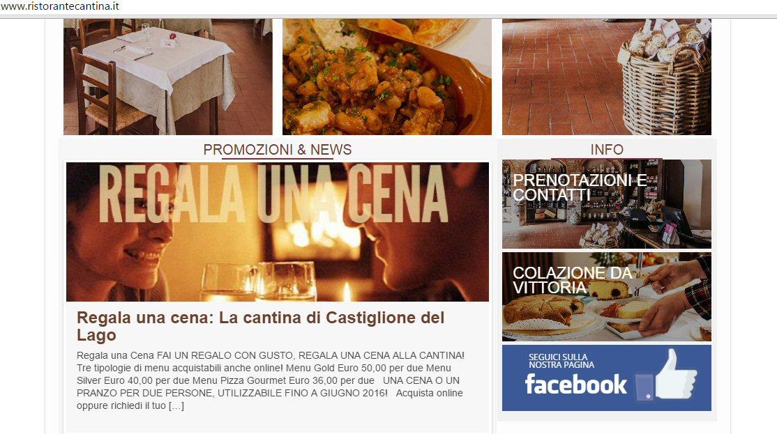 Sito Ristorante La Cantina 3