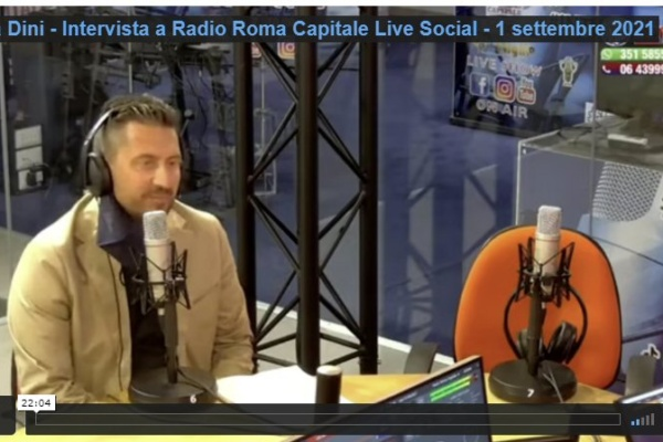 Luca Dini intervista a Radio Roma Capitale Live Social