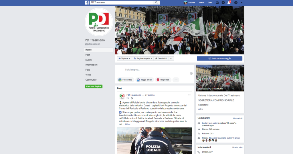 Pd Trasimeno facebook