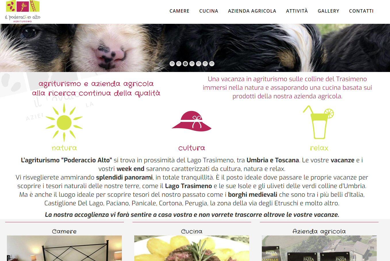 Realizzazione sito web - Poderaccio alto
