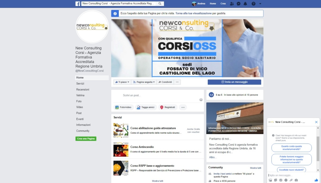 new consulting corsi facebook